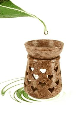 Oil Evaporator Heart Soapstone