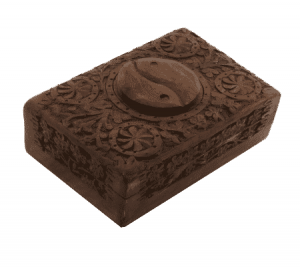 Tarot Box Yin Yang Woodcarving