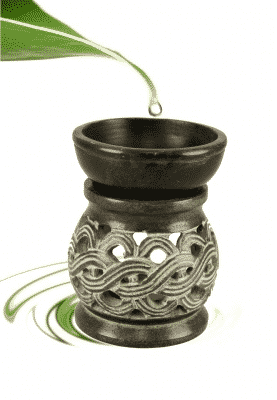 Oil Evaporator Celtic Button Black Soapstone