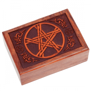 Tarot Box Pentagram Engraved
