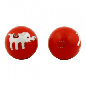Meridian Balls Elephants Red-White