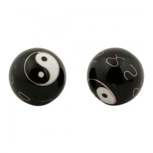 Meridian Balls Yin Yang Black - 4 Cm - Model 1