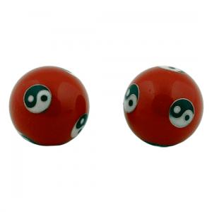 Meridian Balls Yin Yang Red (3,5 Cm)