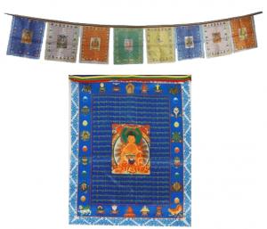 Prayer Flags Buddhas