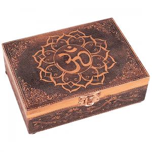 Tarot Or Jewellery Box Ohm Copper Colour