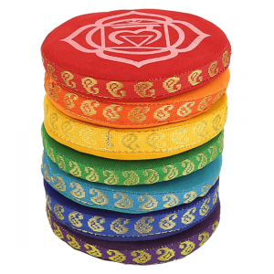 Singing Bowl Pillows 7 Chakras (9.5 Cm)