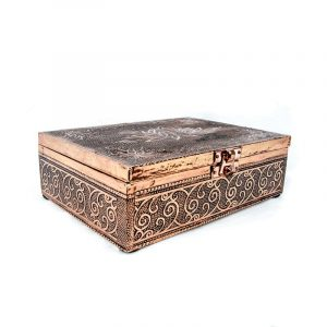 Tarot Or Jewellery Box Lotus Copper Color