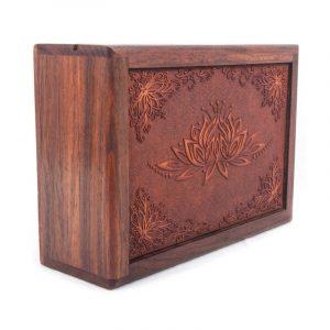 Tarot Box Lotus Engraved