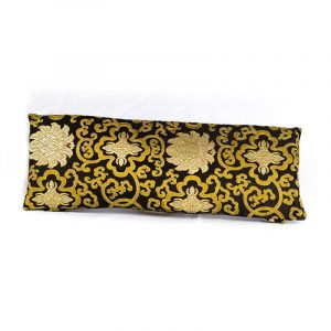Meditation Bench Cushion Black/golden Lotus