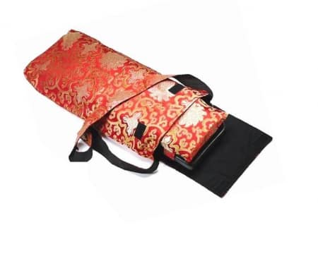 Carrying Bag For Meditation Bench Lotus Red-gold