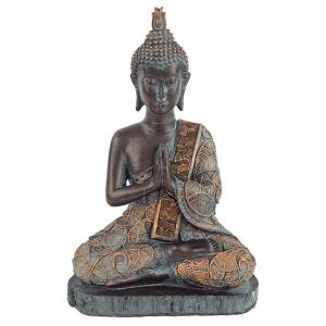 Buddha Antique Finish Thailand - 23 Cm