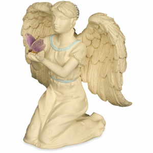 Angel Figurine With Butterfly And Colourful Accents - 10 Cm
