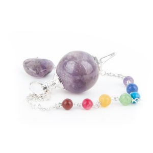Pendulum Amethyst Spherical Chakra Chain