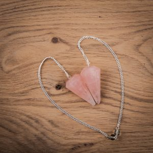 Pendulum Facet Ground Rose Quartz Spit Point