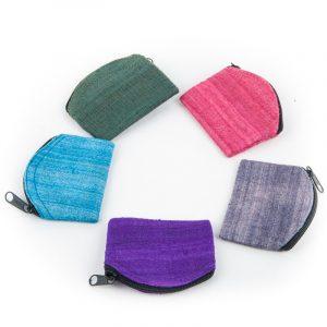 Bag Rough Silk With zipper (Assorti colors)