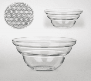 Vital bowl Cotula with Flower of Life White (12 cm)