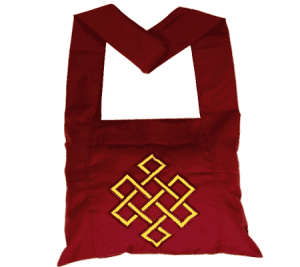 Lama Bags Red with Yellow Infinity Button