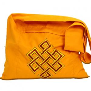 Lama Bag Orange with Infinity Button