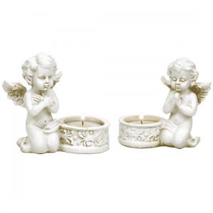 Angel Cupid with Tealight holder - 10 cm