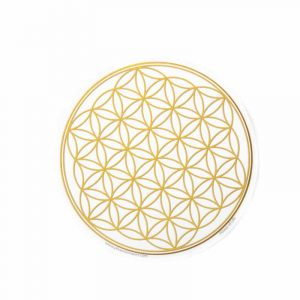 Window sticker Flower of Life Gold