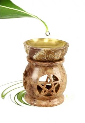 Oil Evaporator Pentagram Soapstone