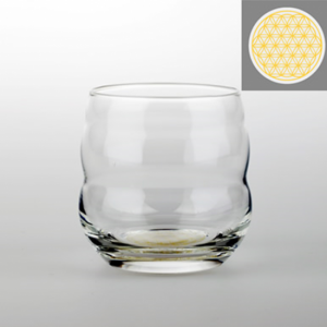 Drinking glass Mythos with Flower of Life Gold