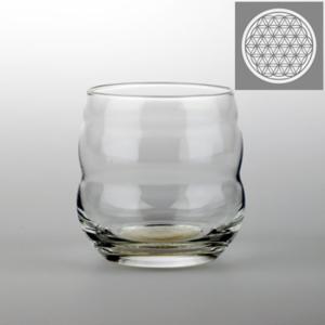 Drinking glass Mythos with Flower of Life Platinum