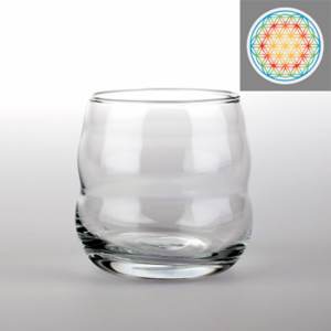 Drinking glass Mythos with Flower of Life Multi-coloured
