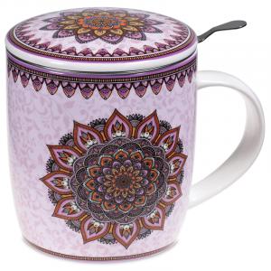 Tea Suggestor Set Mandala Purple
