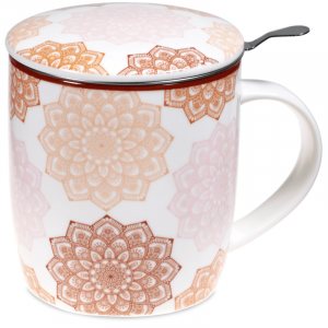 Tea Suggestor Set Mandala Pink