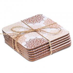 Mandala Pink Coasters (Set of 6)