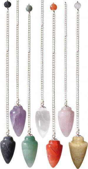 Pendulum Gemstone Curved Assorted Stones (12 pieces)