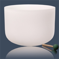 Crystals Singing Bowl G-tone Largest