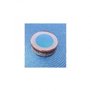 Orgonite Slice Brown with Green-Blue Circle