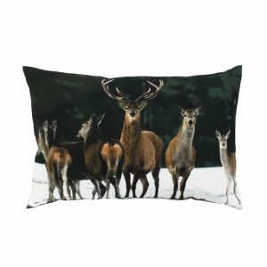 Decorative Cushion Canvas Herd of Deer (60 x 40 cm)
