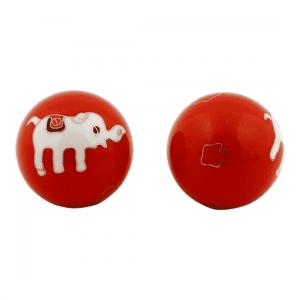 Meridian Balls Elephants Red-White