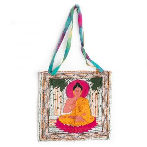 Tote Bag Cotton - Meditating Buddha (45 cm)