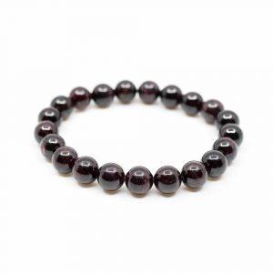 Gemstone Bracelet Garnet Red (18 cm/8 mm Beads)