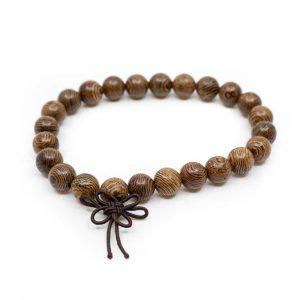 Elastic Mala Bracelet from Wenge Wood