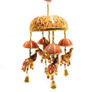 Decoration Mobile Fabric Elephants with Bells Surprise (30 cm)