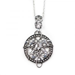 Amulet Viking Celtic Knot with Dragons