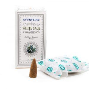 Ayurvedic Backflow Incense Cones White Sage