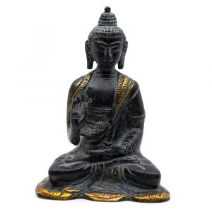 Buddha Image Antique Finish - Brass - Teaching (12 cm)