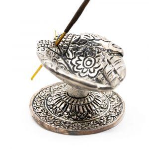 Traditional Incense Burner Giving Hands Silver