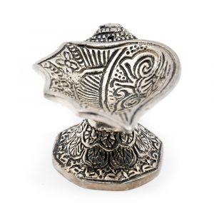 Traditional Incense Cones Burner Silver
