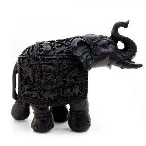 Elephant Statue - Traditional Design (14 cm)