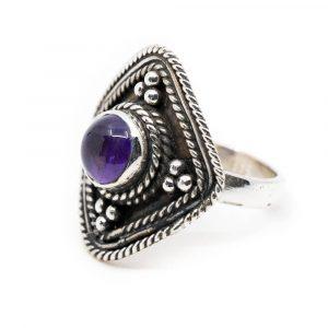 """Gemstone Ring Amethyst 925 Silver """"Yirsa"""" (Size 17)"""