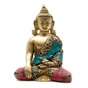 Buddha Image Shakyamuni with Mosaic Decoration (7 cm)