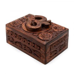 Storage Box Wood OHM Hand-carved (15 cm)