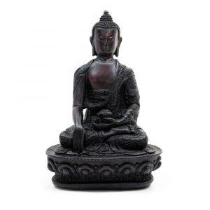 Seated Buddha - Black finish (18 cm)
